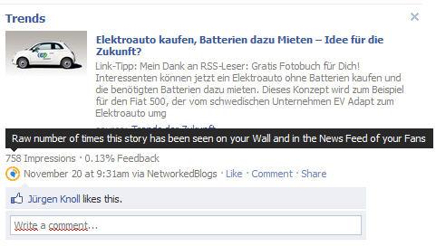 facebook impressions von postings