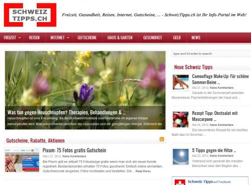 Schweiztipps.ch: Ratgeber Blog für die Schweiz. Tipps & Infos