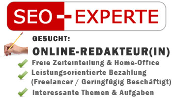 Online Redakteur In Gesucht Freie Zeiteinteilung Amp Home Office M 246 Glich Seo Experte