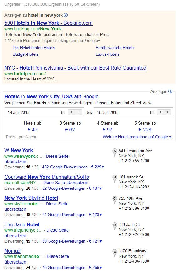 Google Hotelsuche Deutsch