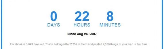 Berechne wie viel Zeit DU auf Facebook verschwendet hast!