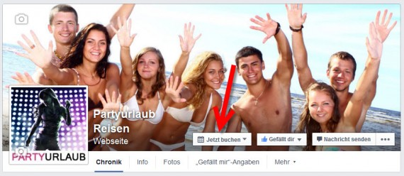 Facebook Call to Action Button auf Fanseiten