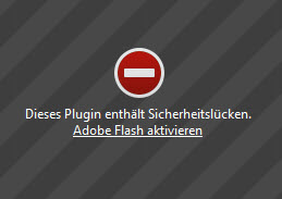 flash-warnmeldung