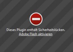flash-warnmeldung