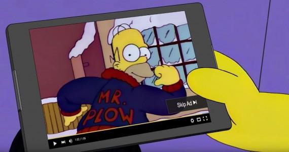 Homer Simpson mr plow video ads